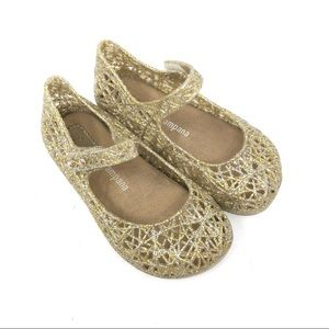 Mini Melissa gold Mary Janes